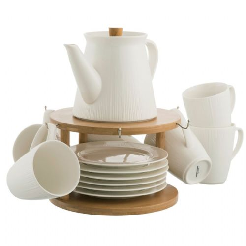 Belleek Living Pekoe 13 Piece Set and Stand